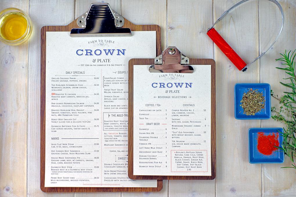 custom menu example