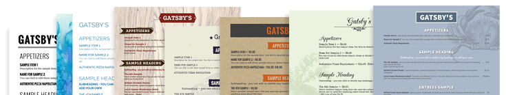 Menu Designs from iMenuPro