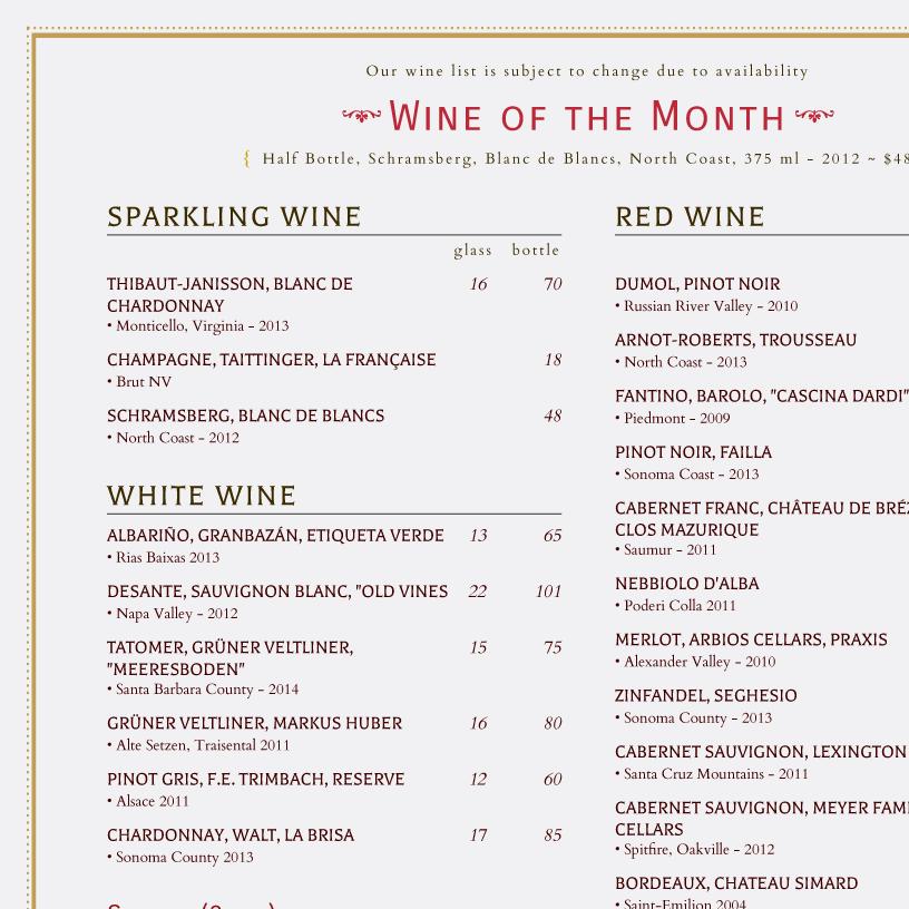 menu templates imenupro