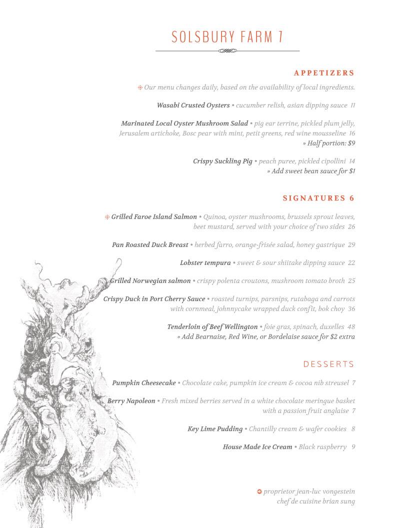 editable menu template example